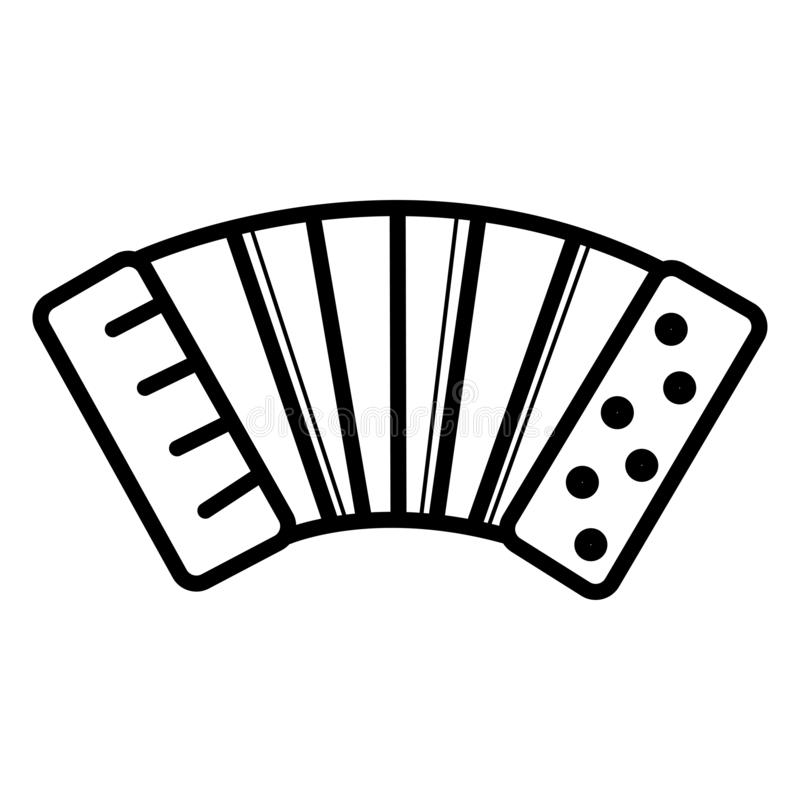 De vector van het harmonikapictogram vector illustratie