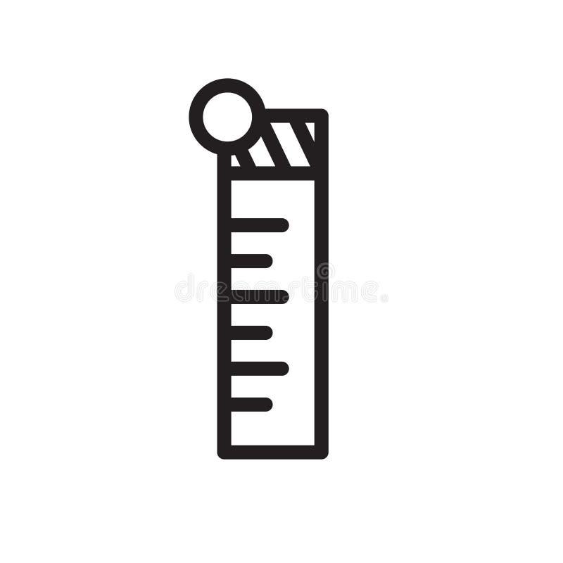 De vector van het heerserspictogram op witte achtergrond, Heersersteken, lijnsymbool of lineair elementenontwerp wordt geïsoleerd royalty-vrije illustratie