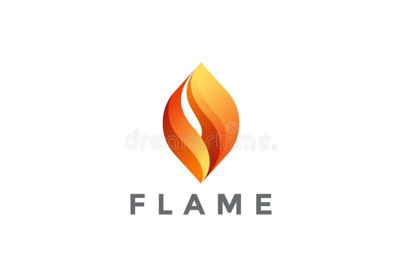 De vector van het het Embleemontwerp van de brandvlam Samenvatting logotype vector illustratie