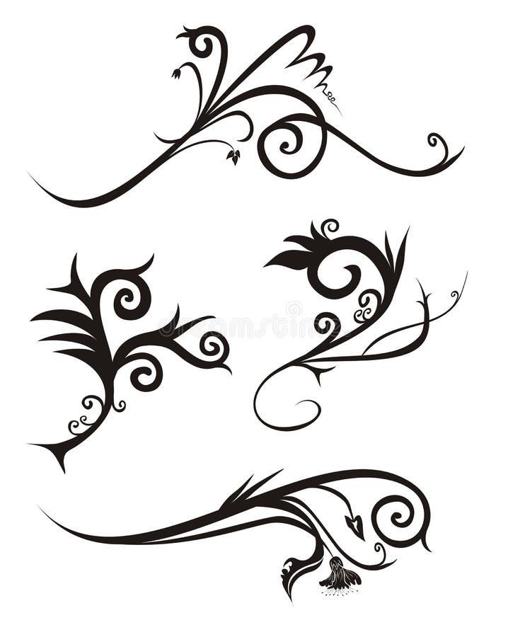 De vector van het het ontwerpdeel van Editable vector illustratie