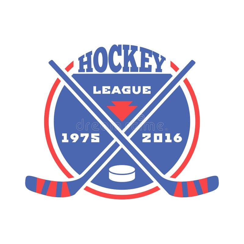 De vector van het hockeyetiket vector illustratie