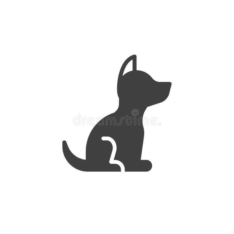 De vector van het hondpictogram royalty-vrije illustratie