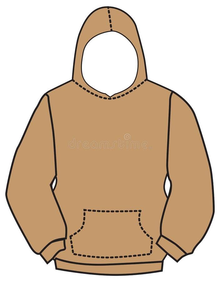 De vector van het Hoodiesweatshirt royalty-vrije illustratie