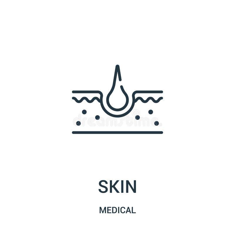 de vector van het huidpictogram van medische inzameling De dunne van het het overzichtspictogram van de lijnhuid vectorillustrati stock illustratie