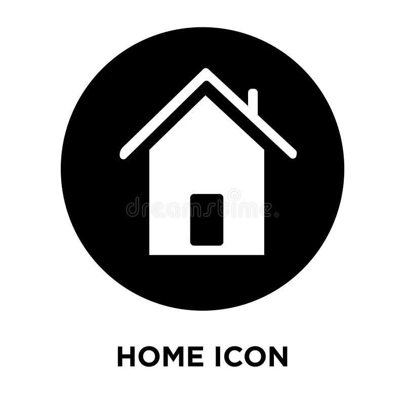 De vector van het huispictogram op witte achtergrond, embleemconcept wordt geïsoleerd van H dat stock illustratie