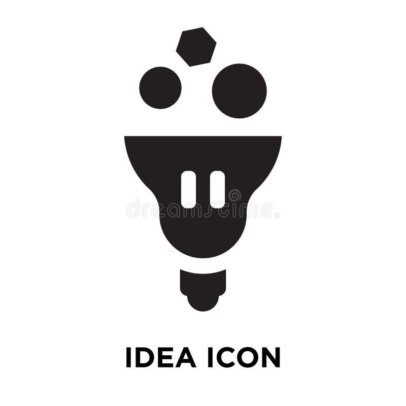 De vector van het ideepictogram op witte achtergrond, embleemconcept wordt geïsoleerd van I die stock illustratie