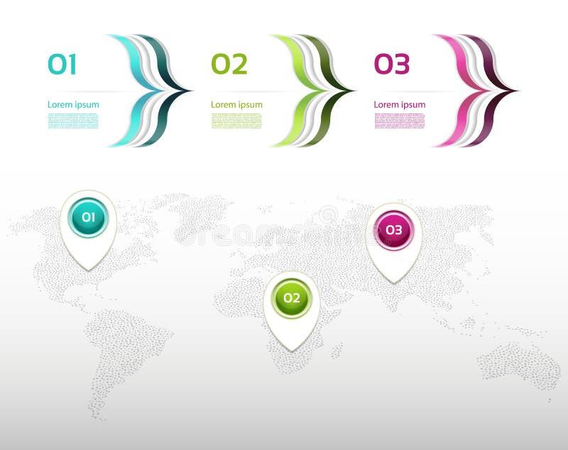 De vector van het Infographicontwerp kan voor werkschemalay-out, diagram, jaarverslag worden gebruikt royalty-vrije illustratie