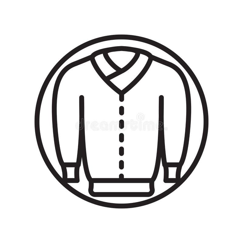 De vector van het jasjepictogram op witte achtergrond, Jasjeteken, lineaire sportsymbolen wordt geïsoleerd dat royalty-vrije illustratie
