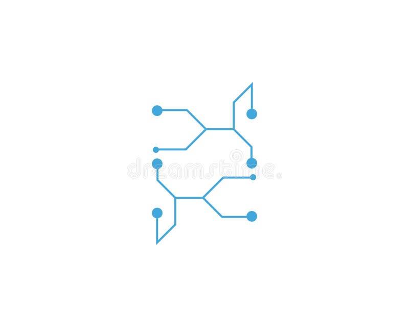 De vector van het de kabelembleem van de kringstechnologie royalty-vrije illustratie