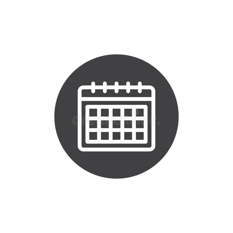 De Vector van het kalenderpictogram royalty-vrije illustratie