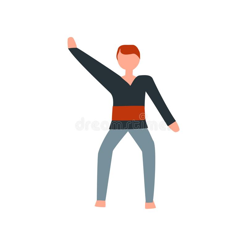 De vector van het karatepictogram op witte achtergrond, Karateteken, menselijke illustraties, menselijke illustraties wordt geïso stock illustratie