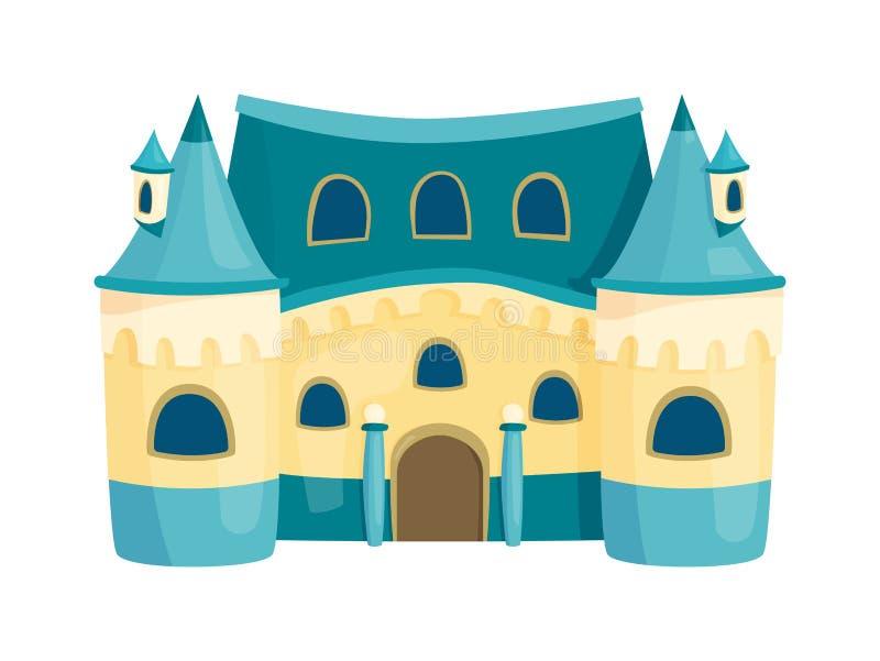 De vector van het kasteelbeeldverhaal stock illustratie