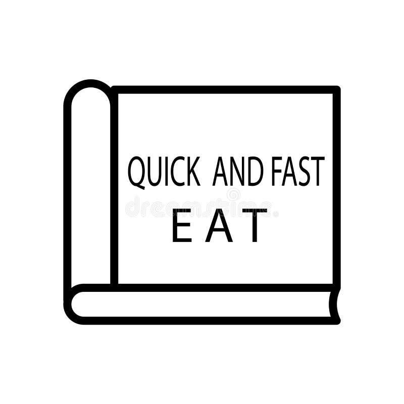 De vector van het kookboekpictogram op witte achtergrond, Kookboekteken, lijn of lineair teken, elementenontwerp in overzichtssti stock illustratie