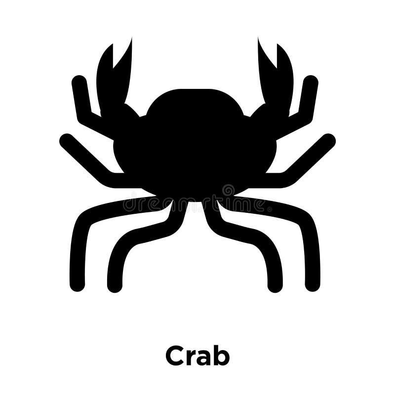 De vector van het krabpictogram op witte achtergrond, embleemconcept wordt geïsoleerd van C dat stock illustratie