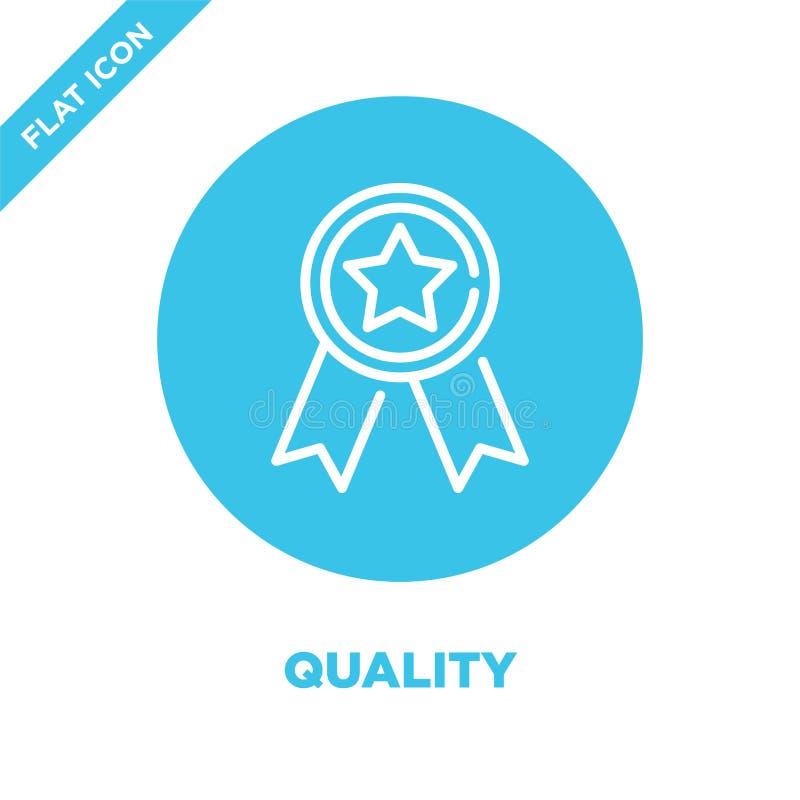 De Vector van het kwaliteitspictogram De dunne van het het overzichtspictogram van de lijnkwaliteit vectorillustratie kwaliteitss royalty-vrije illustratie