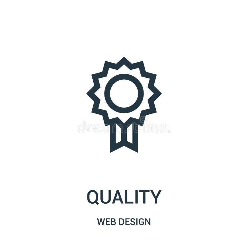 de vector van het kwaliteitspictogram van de inzameling van het Webontwerp De dunne van het het overzichtspictogram van de lijnkw stock illustratie