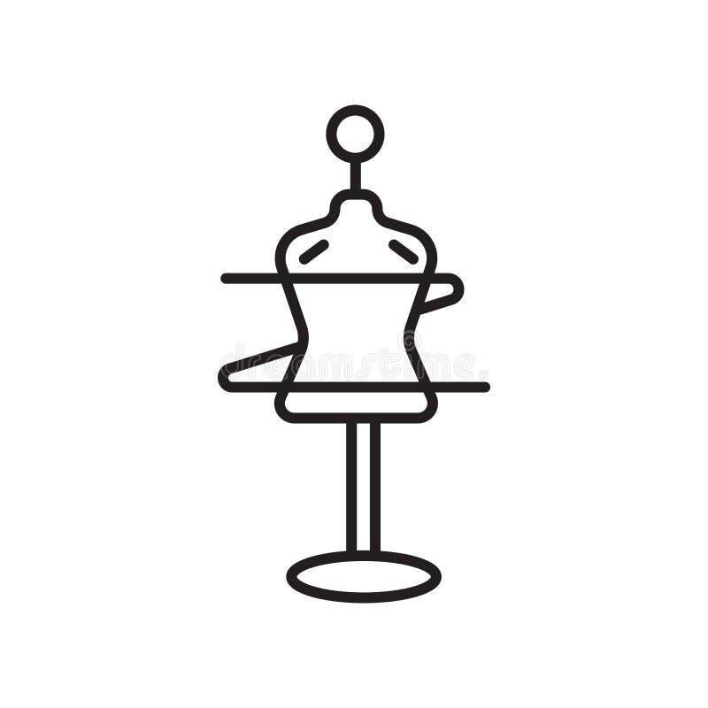 De vector van het ledenpoppictogram op witte achtergrond, Ledenpopteken, teken en symbolen in dunne lineaire overzichtsstijl die  stock illustratie