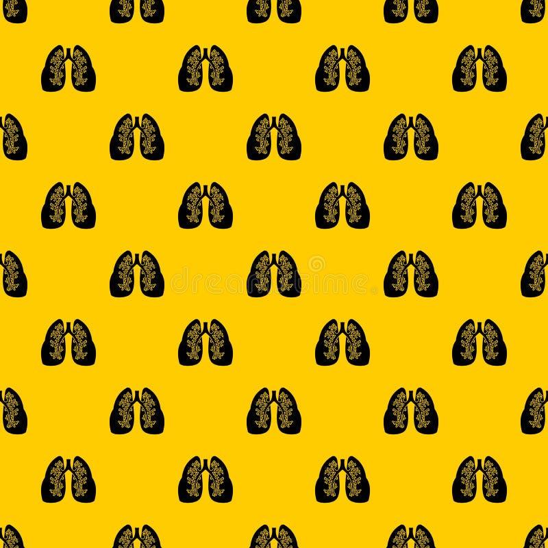 De vector van het longenpatroon royalty-vrije illustratie