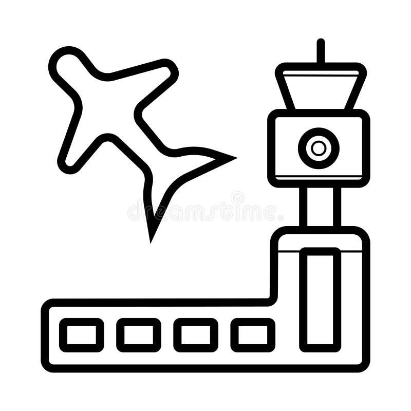 De vector van het luchthavenpictogram stock illustratie