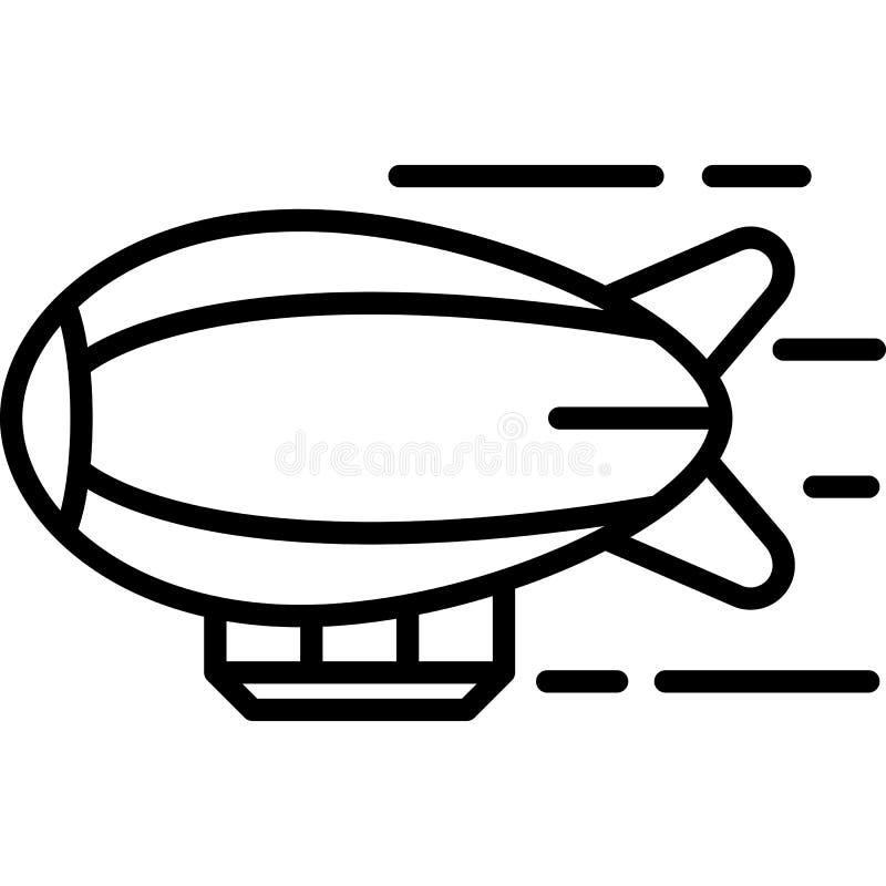 De Vector van het luchtschippictogram vector illustratie