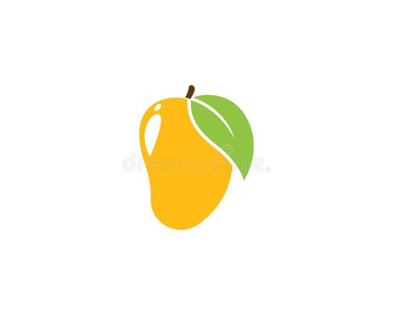 de vector van het mangoembleem royalty-vrije illustratie