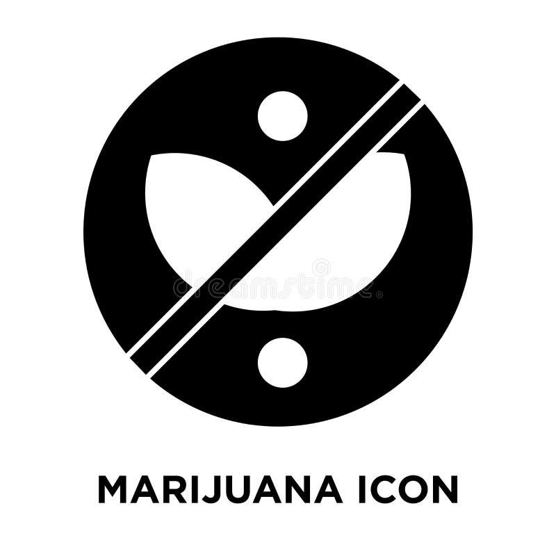 De vector van het marihuanapictogram op witte achtergrond, embleemconcept wordt geïsoleerd dat vector illustratie
