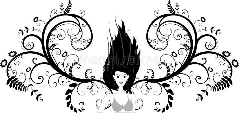 De Vector van het meisje royalty-vrije illustratie