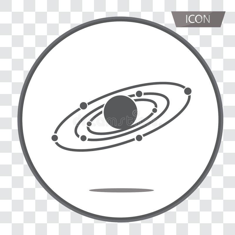 De vector van het melkwegpictogram die op achtergrond wordt geïsoleerd royalty-vrije illustratie