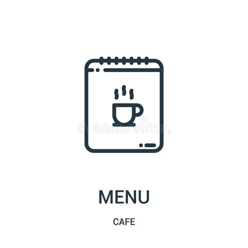 de vector van het menupictogram van koffieinzameling De dunne van het het overzichtspictogram van het lijnmenu vectorillustratie  royalty-vrije illustratie