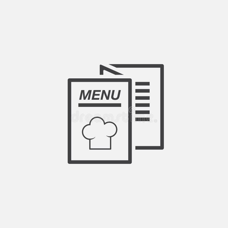 De vector van het menupictogram op wit wordt geïsoleerd dat royalty-vrije illustratie