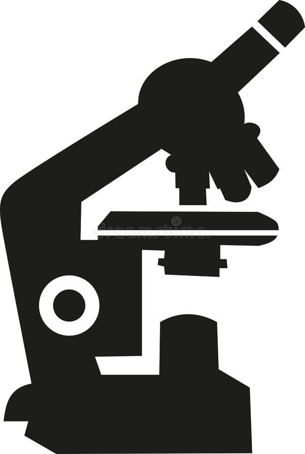 De vector van het microscooppictogram royalty-vrije illustratie