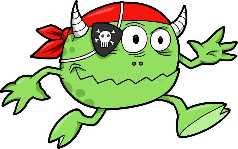 De Vector van het Monster van de piraat royalty-vrije illustratie