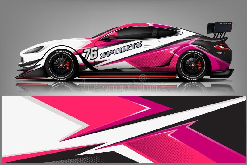 De vector van het de omslagontwerp van het autooverdrukplaatje Grafische abstracte streep het rennen achtergronduitrustingsontwer vector illustratie