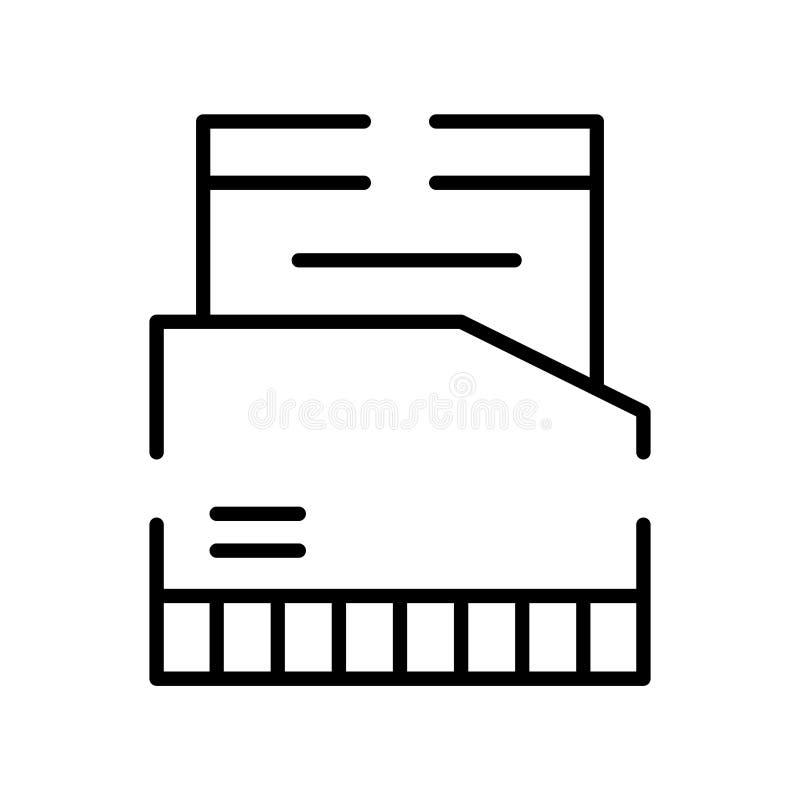 De vector van het omslagpictogram op witte achtergrond, Omslagteken, lijnsymbool of lineair elementenontwerp wordt geïsoleerd in  vector illustratie