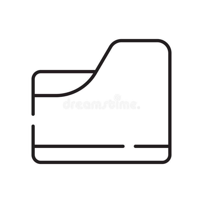 De vector van het omslagpictogram op witte achtergrond, Omslagteken, teken en symbolen in dunne lineaire overzichtsstijl die word stock illustratie