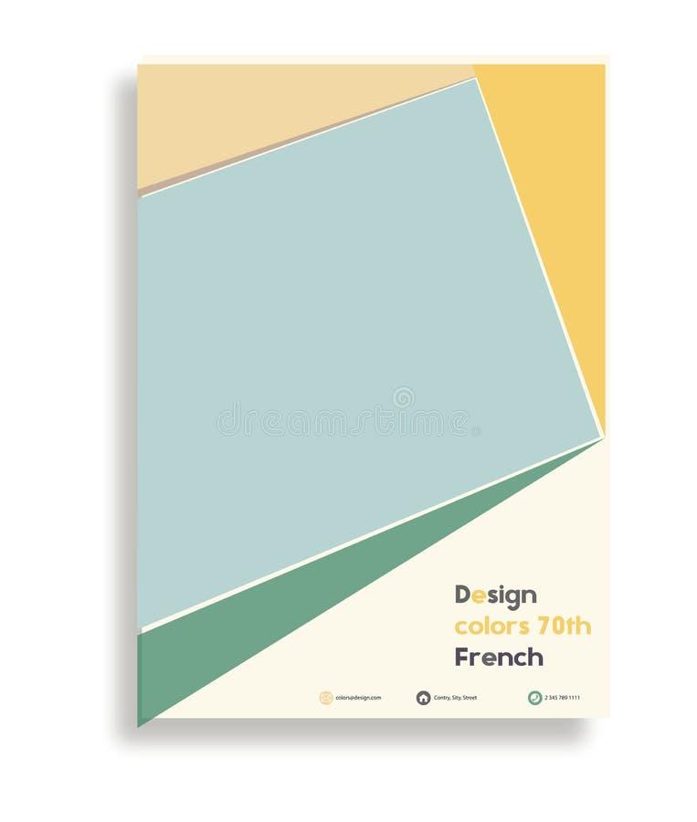 De vector van het het ontwerpmalplaatje van de bedrijfsbrochurevlieger Geometrische vierkante abstracte achtergrond lay-out kleur royalty-vrije illustratie
