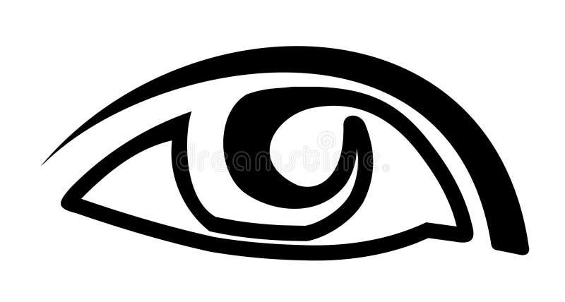 De vector van het oog vector illustratie