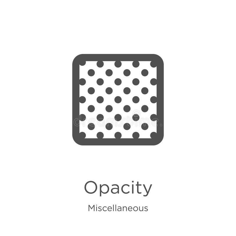 de vector van het opaciteitpictogram van diverse inzameling De dunne van het het overzichtspictogram van de lijnopaciteit vectori vector illustratie