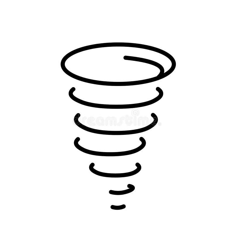 De Vector van het orkaanpictogram stock illustratie