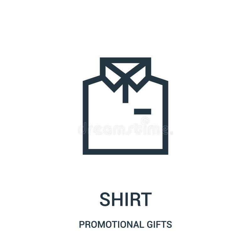 de vector van het overhemdspictogram van promotiegifteninzameling De dunne van het het overzichtspictogram van het lijnoverhemd v royalty-vrije illustratie