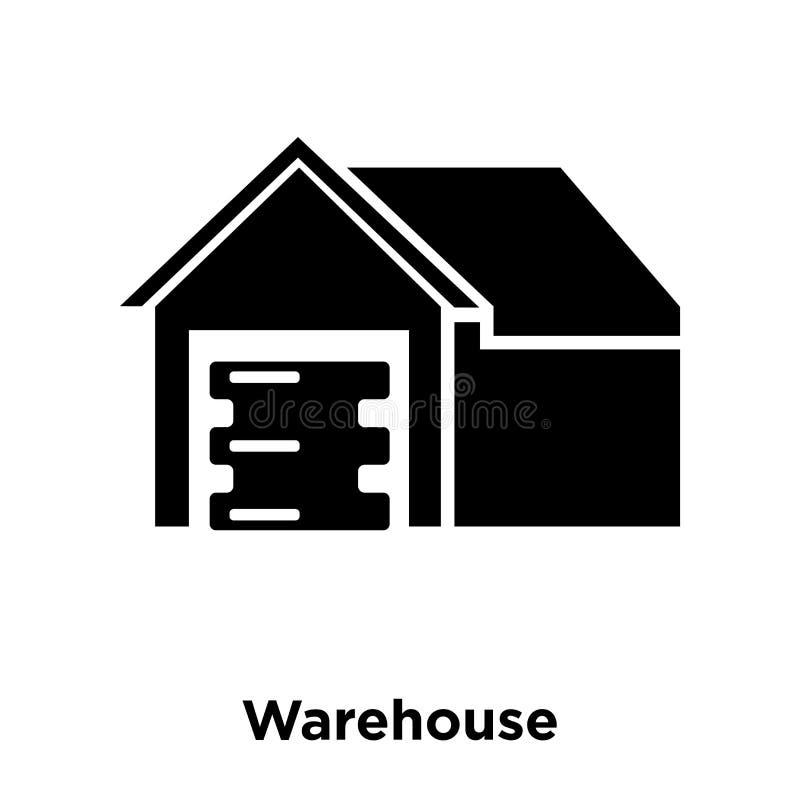 De vector van het pakhuispictogram op witte achtergrond, embleemconcept wordt geïsoleerd dat vector illustratie