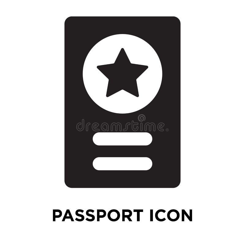 De vector van het paspoortpictogram op witte achtergrond, embleemconcept wordt geïsoleerd dat stock illustratie
