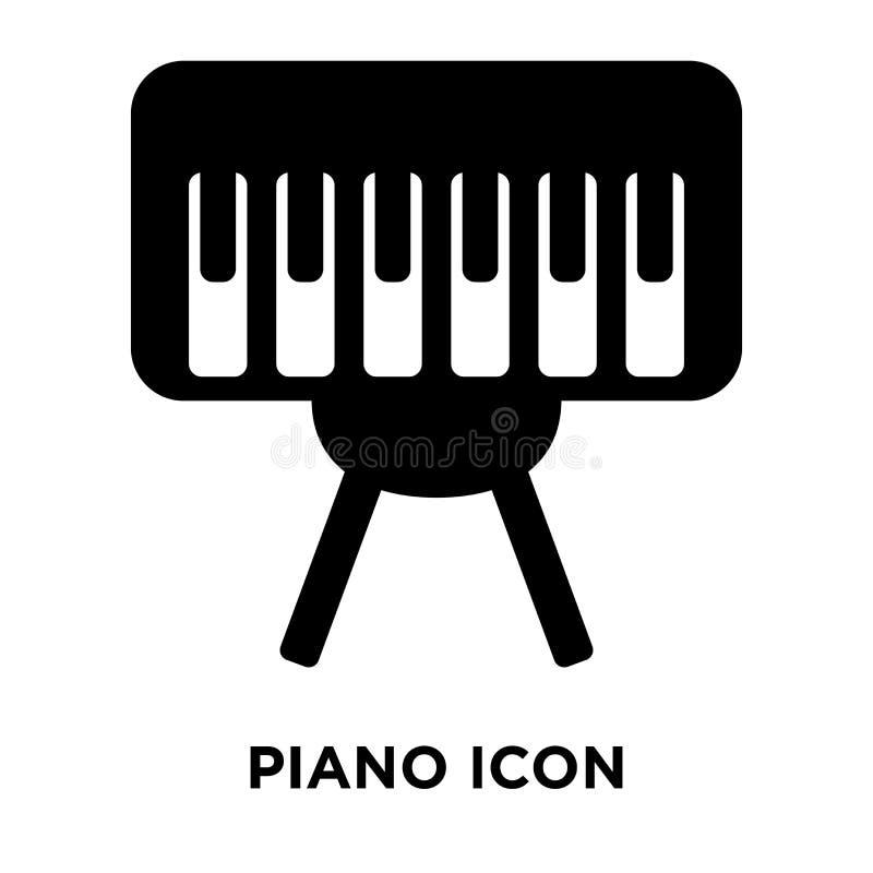 De vector van het pianopictogram op witte achtergrond, embleemconcept wordt geïsoleerd dat van royalty-vrije illustratie