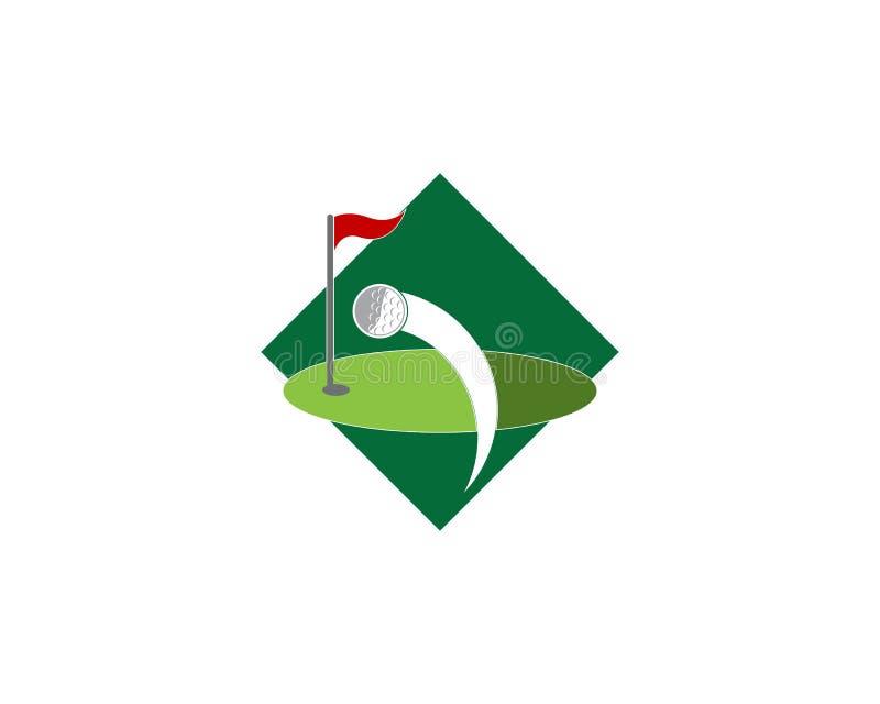 De vector van het het pictogramembleem van het golfgebied vector illustratie