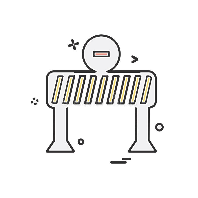 De vector van het het pictogramontwerp van de eindebarrière stock illustratie
