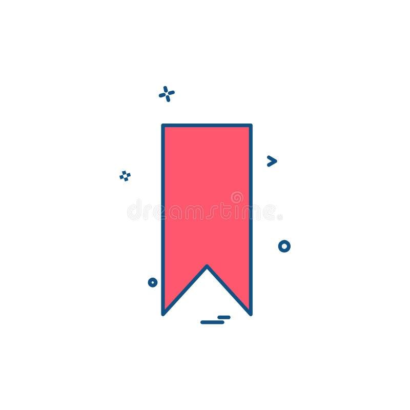 De vector van het het pictogramontwerp van de referentiemarkering royalty-vrije illustratie