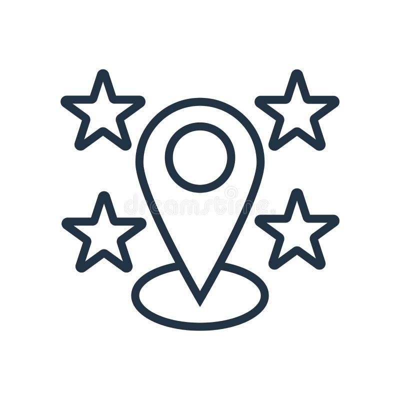 De vector van het plaatspictogram op witte achtergrond, Plaatsteken wordt geïsoleerd dat vector illustratie