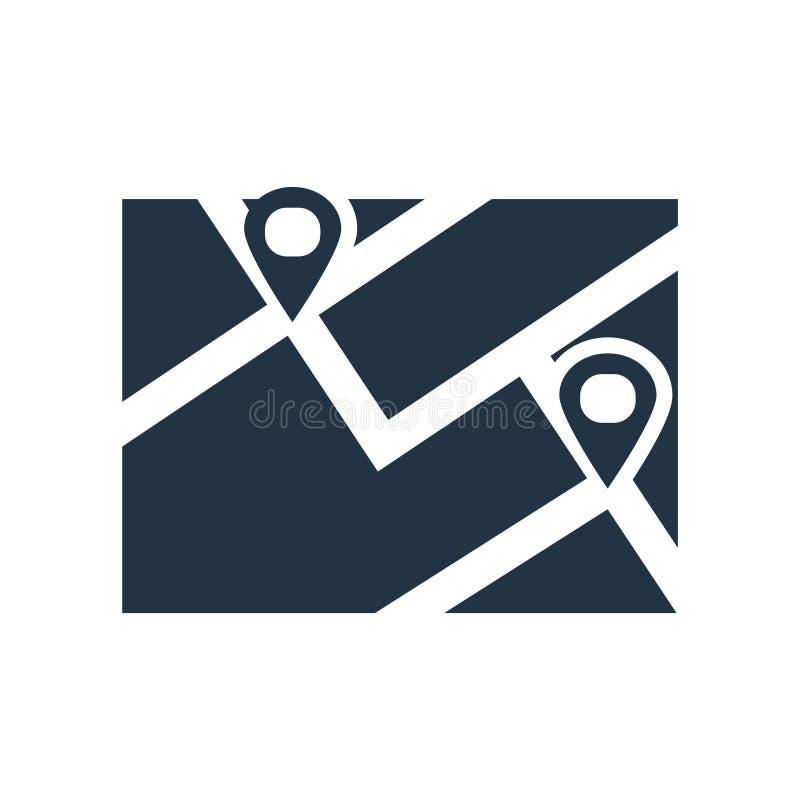 De vector van het plaatspictogram op witte achtergrond, Plaatsteken wordt geïsoleerd dat stock illustratie