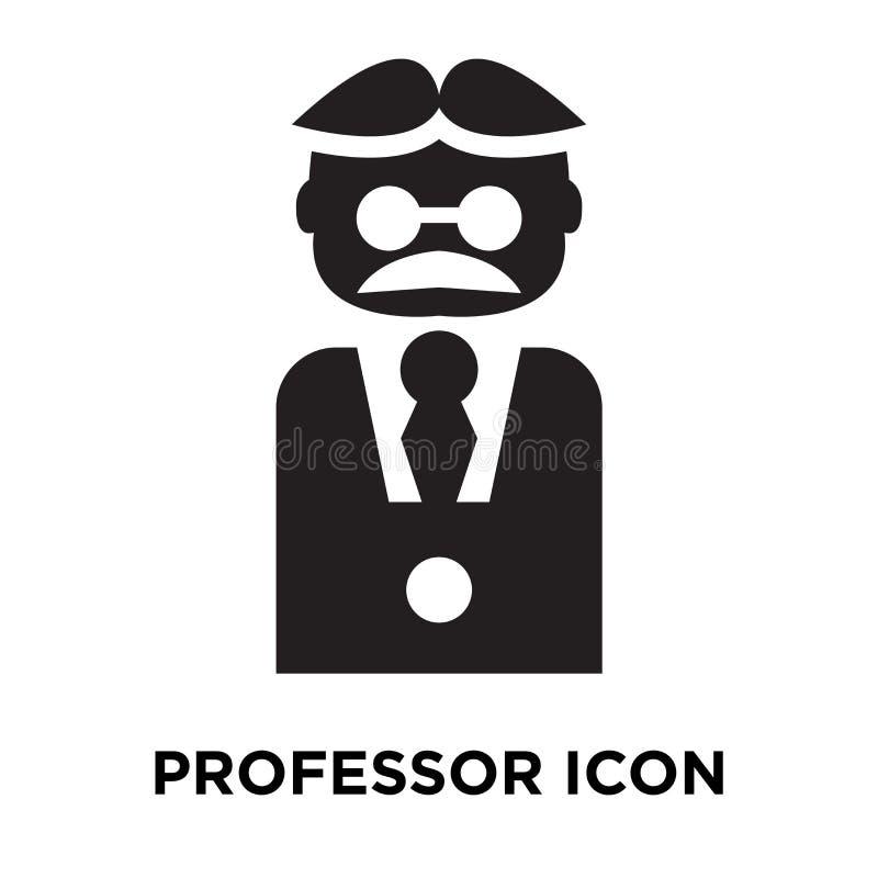 De vector van het professorspictogram op witte achtergrond, embleemconcept wordt geïsoleerd dat royalty-vrije illustratie