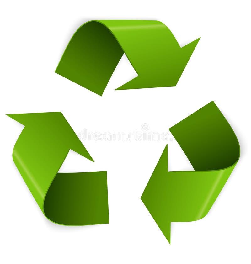 De vector van het recyclingssymbool royalty-vrije illustratie